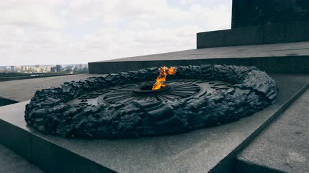 mortal : Eternal fire on the memorial of soldiers being killed  on the World War II