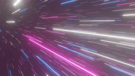 hyperspace : Abstract hyperspace background. Speed of light, neon glowing rays and stars in motion. Moving through stars. 4k Seamless loop
