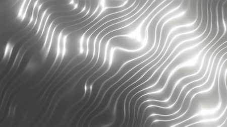 caramelo : 3D render silver wave abstract background. Slowly flows in silver colors. Slow texture animation. 4K loop Vídeos