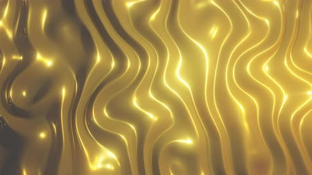 âmbar : 3D render gold wave abstract background. Slowly flows in golden colors. Slow texture animation. 4K loop