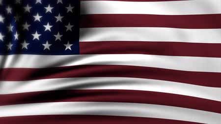 American Flag Slow Waving. United States of America flag. USA. The animation loops 4K Stock Footage