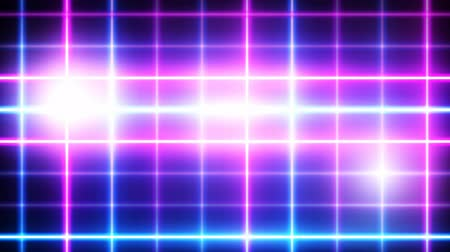 Neon background. Purple and blue neon background shimmers on black background. Bright live neon background. 4K seamless pattern Stock Footage