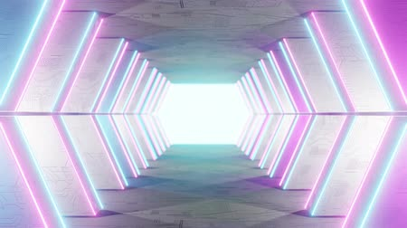 base station : High Tech Tunnel Loop Background 4K. Flying in a futuristic white sci-fi tunnel interior. Science corridor. Abstract modern technology background. Seamless loop 3D render animation Stock Footage