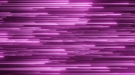 Beautiful Violet horizontal Rain. Neon background. Violet cyberspace. Digital Design Concept. Looped 3d Animation of Glowing Lines Loop animation.