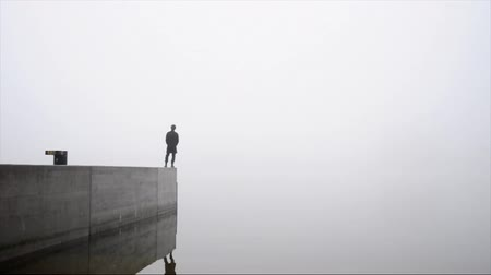 good : man in fog