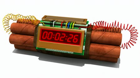 contagem regressiva : Explosive dynamite with countdown timer.