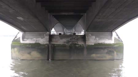 lower part : View of the lower part of the bridge. Stock Footage