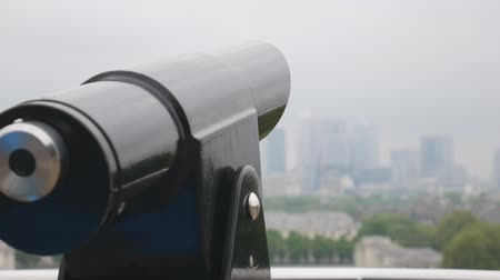 telescopic : A binoscope on the observation deck. Stock Footage