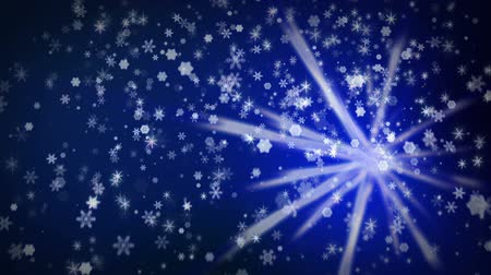 shiny : Snowfall background Stock Footage