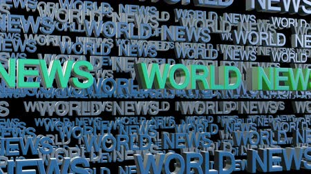 текст : World News Looping Text