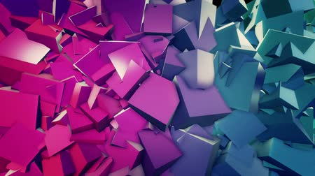 chrom : Cubic abstract background. Loop animation. Wideo