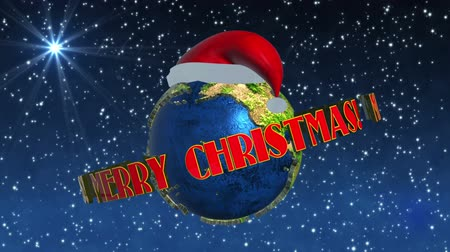 feliz natal : Merry Christmas Earth animation