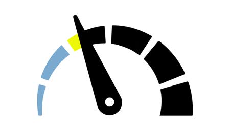 tachometer : Colorful tachometer animation. Isolated on white background.