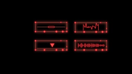 таймер : LED transmition graphical reading animation. Isolated on black background.