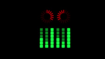 LED musical bar animation. Isolated on the black background.