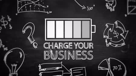 vetor : Charge your business looping animation with alpha matte - 4K Resolution (Ultra HD)