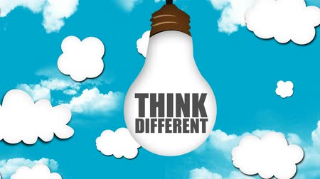 различный : Think Different be Creative Looping animation Стоковые видеозаписи