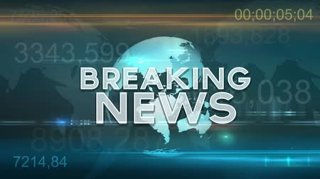 news tv : Breaking News Motion Graphic Stock Footage