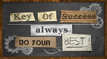 marca : Do Your Best - Key Of Success stop motion Stock Footage