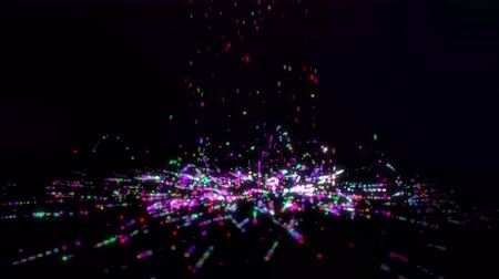 отскок : Falling Small Colorful Line Particles Loop - 4K Resolution Ultra HD (UHD)
