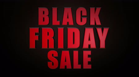 black : Black Friday Sale 3D Looping Animation - 4K UHD Ultra HD Stock Footage