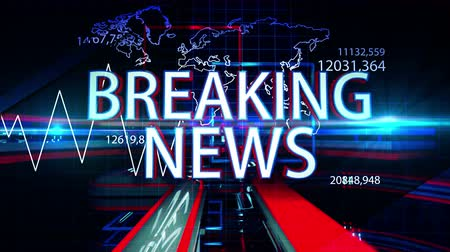 news tv : Breaking News 3D Motion Graphics 4K Stock Footage