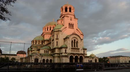 bulgarije : Alexander Nevski-kathedraal in Sofia-Day to Night