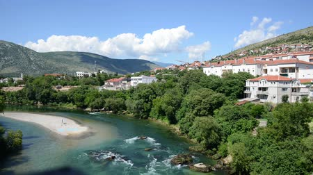 bosnia and herzegovina : Time Lapse video of river in Mostar, Bosnia and Herzegovina