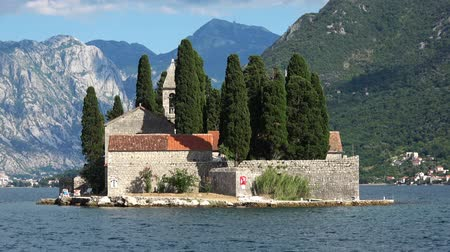 балканский : Island of Saint George in Boka Kotor Bay near Perast city in Montenegro