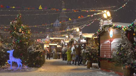 Moscow, Russia - December, 2017: Christmas market fair in Moscow, Russia