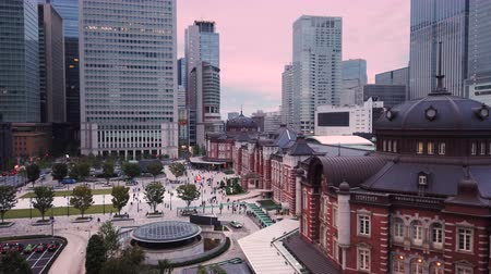 császári : Aerial video of Marunouchi side of Tokyo railway station in the Chiyoda City, Tokyo, Japan.