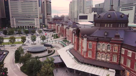 angular : Aerial video of Marunouchi side of Tokyo railway station in the Chiyoda City, Tokyo, Japan.
