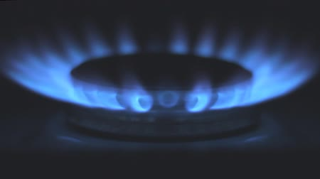 fogão : Gas stove in the dark