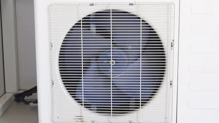 from air : Air conditioning system closeup Stock Footage
