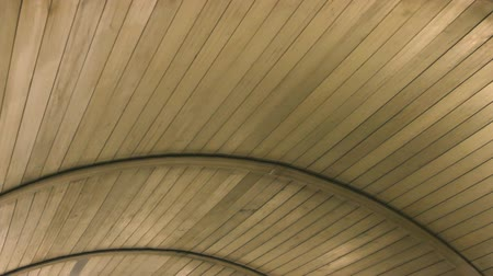 curvature : Wooden texture of the roof moves Stock Footage
