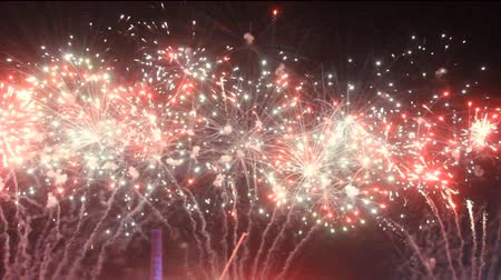 karnaval : Colorful fireworks at holiday night