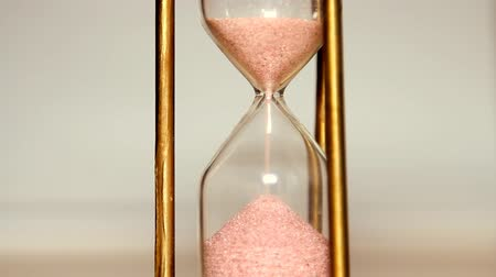 time flow : Sands move through hour glass Stock Footage