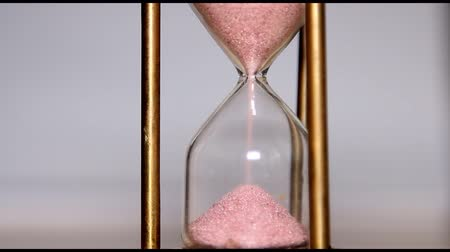 hora : Sands move through hour glass Vídeos