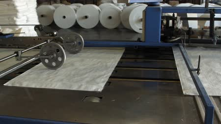 zsák : Big polymeric tape roll unreel for a printing press
