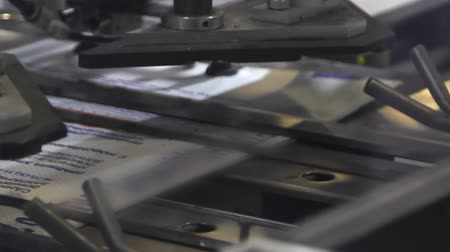print shop : print press typography machine in work
