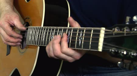 caz : Musical instrument with guitarist hands