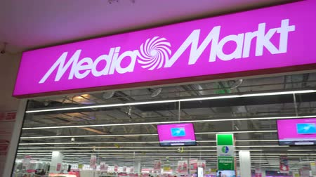 choise : Volgograd, Russian Federation – January 26, 2017: Entrance in to an electronics and home appliances Media Markt store