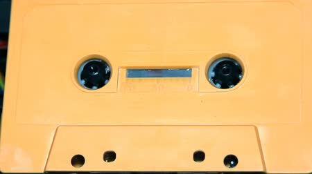kompakt : vintage audio cassette tape with a blank white label