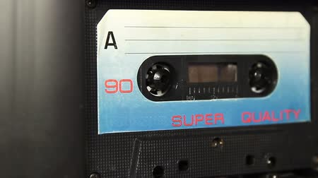 mono : vintage audio cassette tape with a blank white label