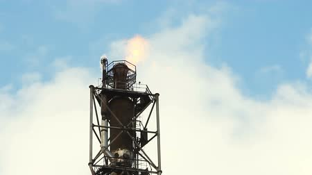 petroleum refinery : refinery fire gas torch
