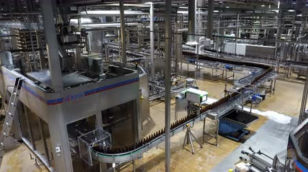 maltês : Moscow, Russian Federation – October 21, 2017: Beer factory interior with a lot of machines