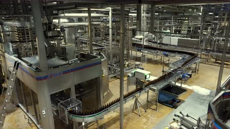 pivovar : Moscow, Russian Federation – October 21, 2017: Beer factory interior with a lot of machines