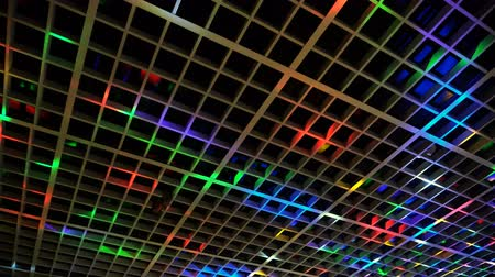 Disco light show, Stage color lights with laser