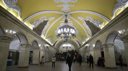 urss : Moscow, Russian Federation - March 17, 2017: The hall of Komsomolskaya subway (Circle Line) in Moscow.