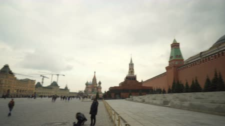 lenin : Moscow, Russian Federation - March 17, 2017: Shooting a circular panorama of Red Square in Moscow.